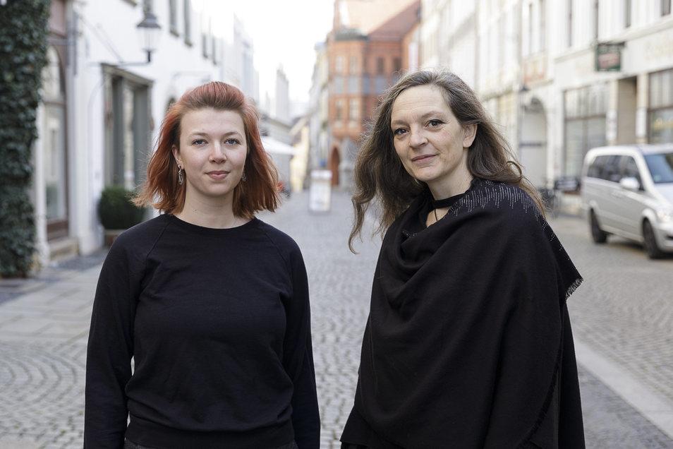 Carolin Renner und Jana Krauß gehören zu den Organisatoren der Corona-Hilfe Görlitz.