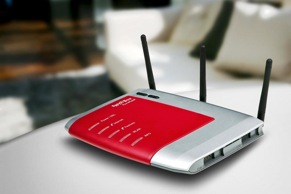 Ein WLAN-Router des Herstellers AVM (Symbolfoto).