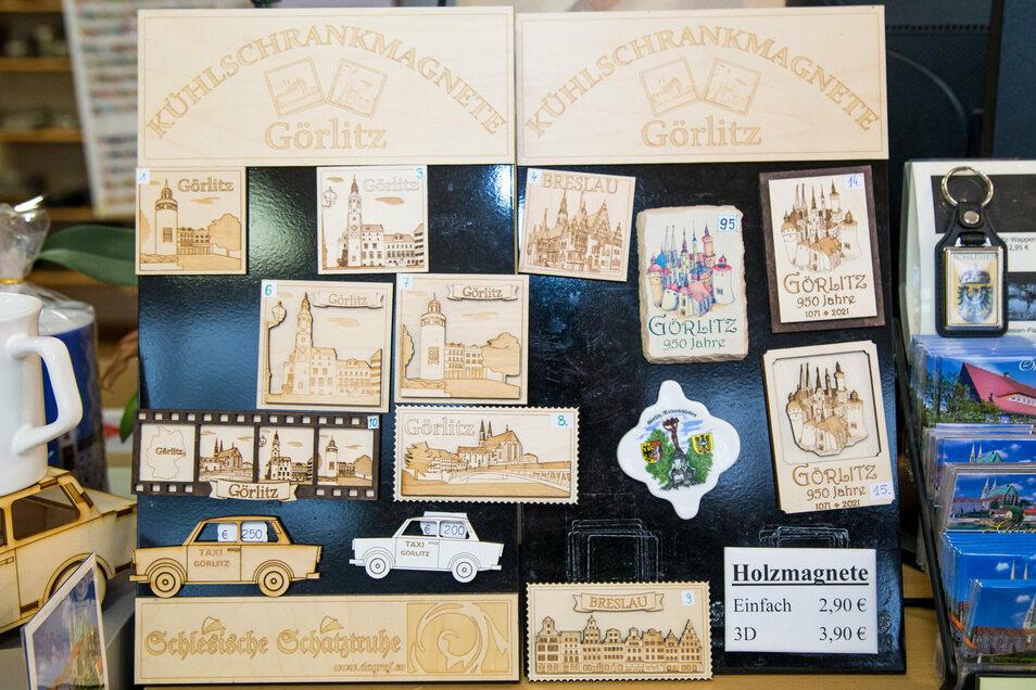 Görlitz-Souvenirs zum 950. Geburtstag der Stadt, sie gibt es unter anderem im Touristbüro ivent und in der Schlesischen Schatztruhe.