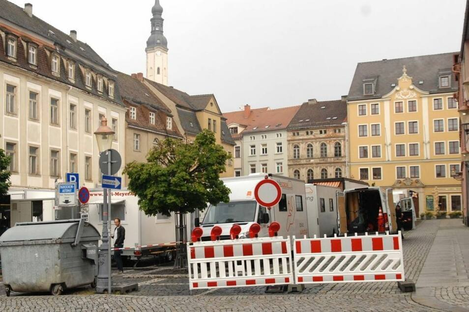 Während des Dreh ist auch die obere Neustadt gesperrt.