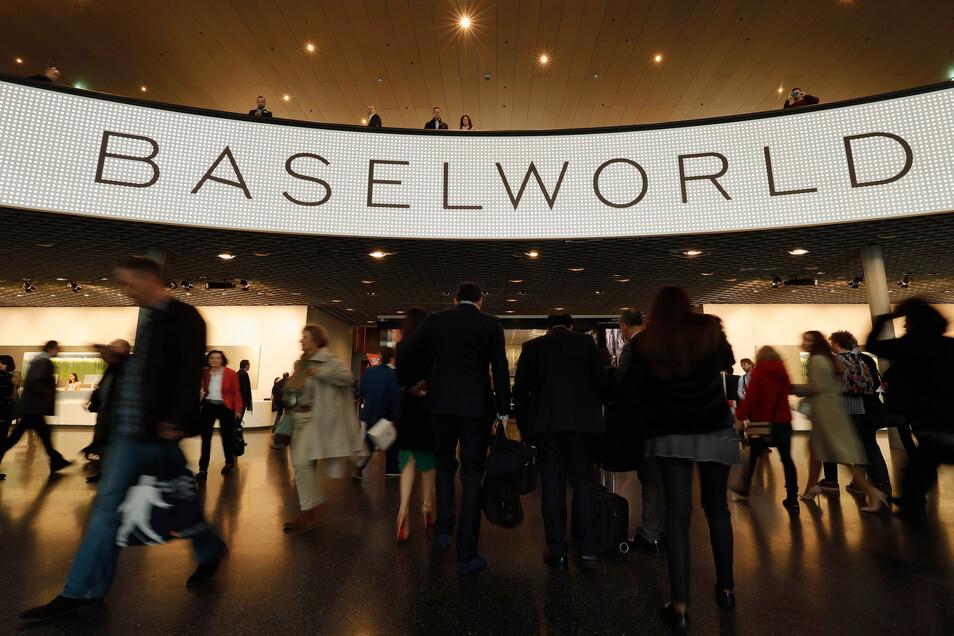 Das waren noch Zeiten: An der Baselworld 2018 nahmen noch mehrere Hersteller aus dem Müglitztal teil. Nun steht der Branchentreff vor dem Aus.