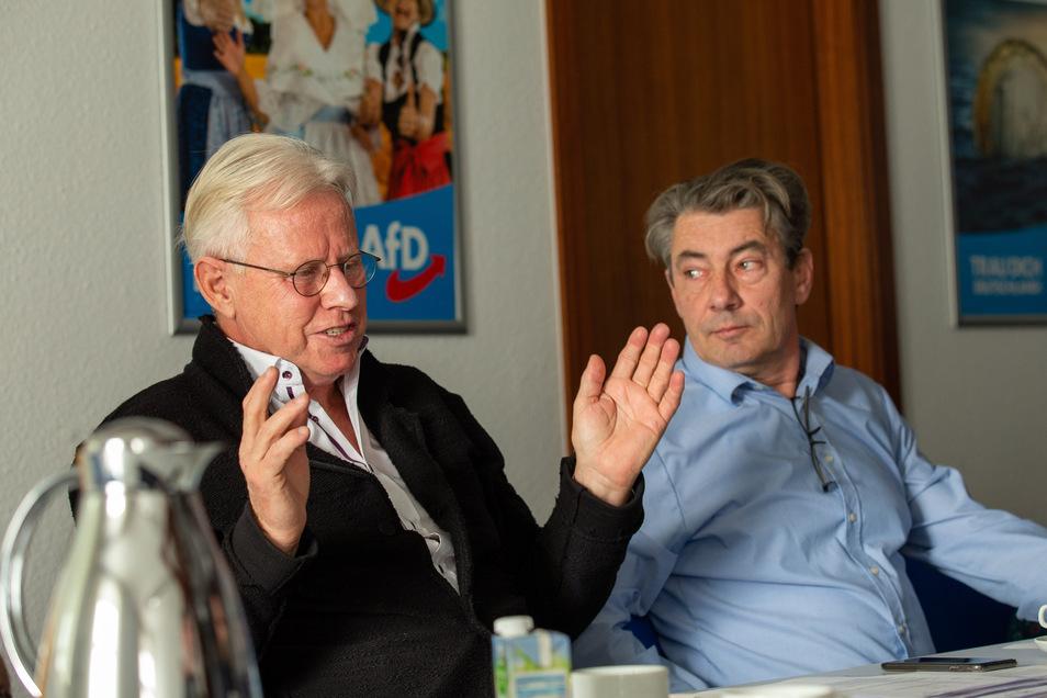 AfD-Fraktionschef Bodo Herath, Stadtrat Tim Lochner: Fraktionsanschluss mit Ansage.
