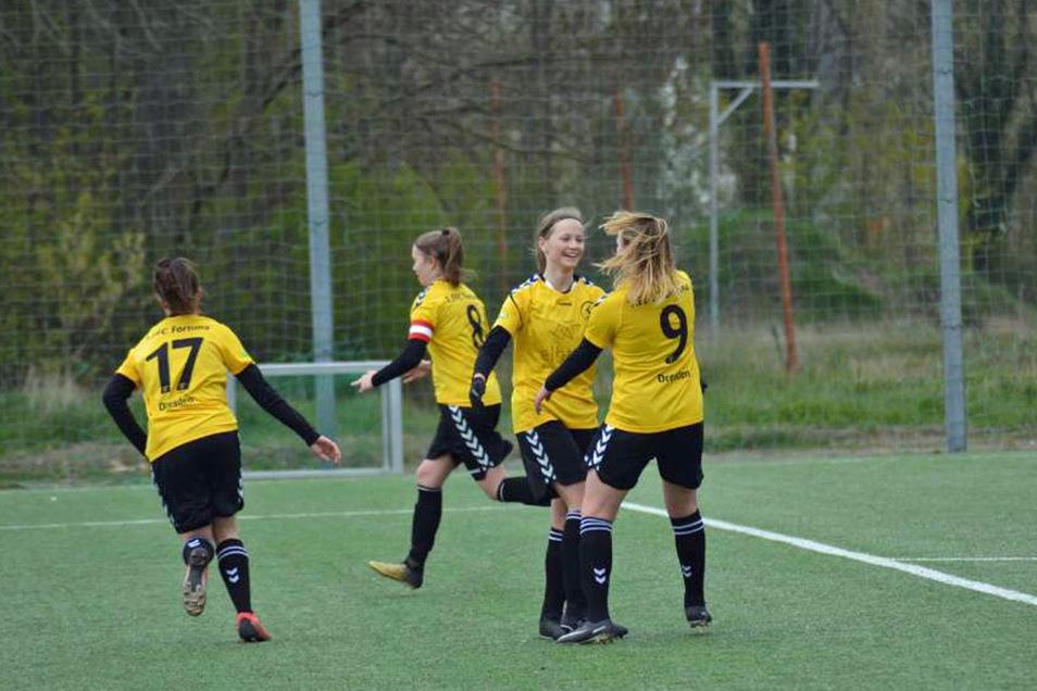 Die Mädchen vom 1. FFC Fortuna Dresden wollen sich beweisen.