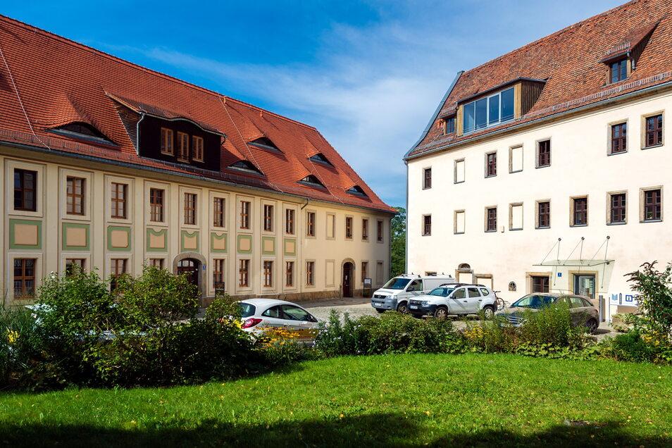 Der Schlosshof in Lohmen: Hier gibt es jetzt kostenfreies WLAN.