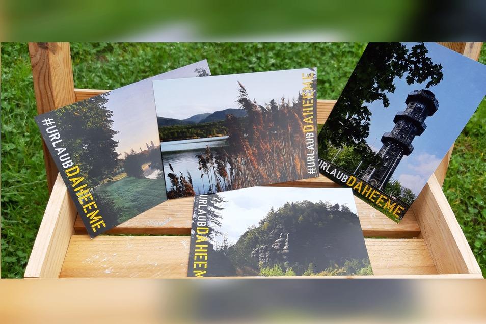 So sehen die Postkarten aus, die es zu kaufen gibt.