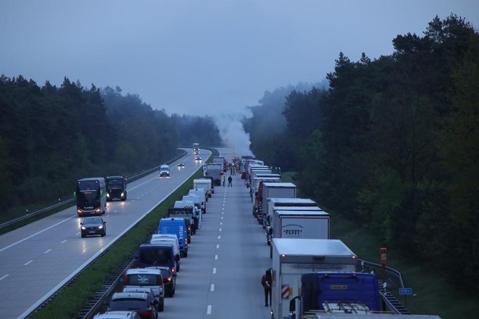 In Richtung Berlin ging für mehrere Stunden nichts mehr.