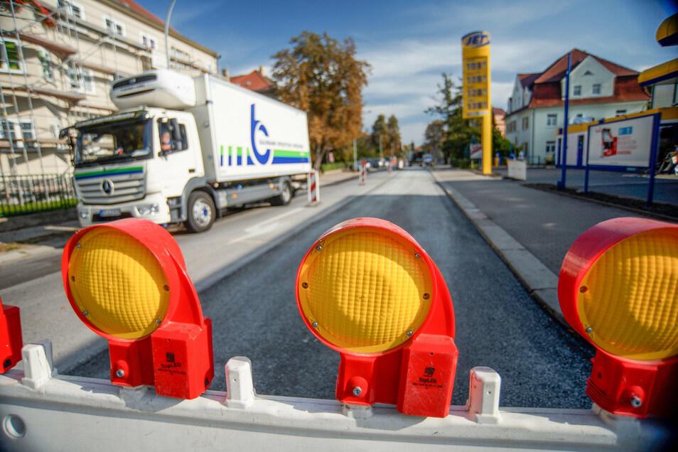 400 Meter der Bautzener Stieberstraße bekommen einen neuen Asphaltbelag. Dazu ist die Straße halbseitig gesperrt.