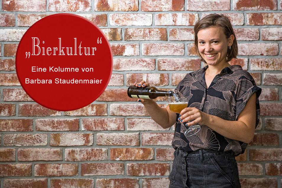 """Barbara Staudenmaier ist Chefin im Bierspezialitäten- laden """"Hopfenkult"""" in der Dresdner Neustadt."""