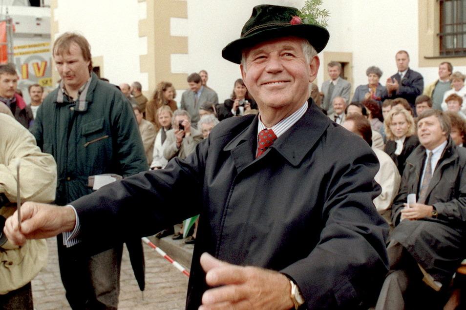 """1992 beim """"Tag der Sachsen"""" in Freiberg."""