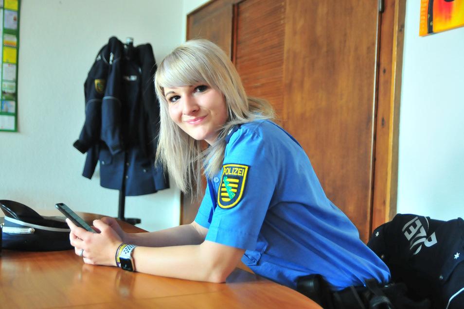 Jenny Thieme arbeitet seit Oktober 2019 im Großenhainer Revier. Die stellvertretende Dienstgruppenführerin beantwortete am Mittwoch LIVE die Fragen der Instagram-User.