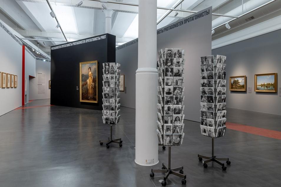 """Werke von Malerinnen der Romantik sind in weder in der Moskauer Tretjakow Galerie noch im Dresdner Albertinum in großer Zahl vorhanden. Aber die Schau zeigt einige Arbeiten zeitgenössicher Künstler und Künstlerinnen, hier """"Women to go"""". Frauen zum Mitnehm"""