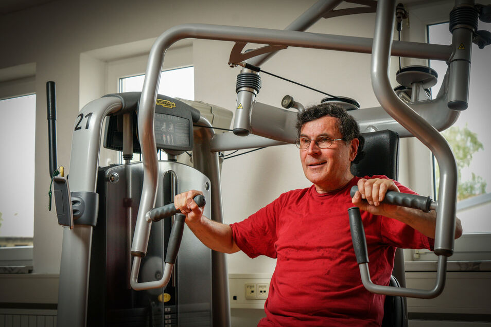 Sächsische.de-Reporter Ingolf Reinsch trainiert regelmäßig im Fitnessstudio in Bischofswerda. Der Neustart zu Beginn dieser Woche war für ihn nicht leicht.