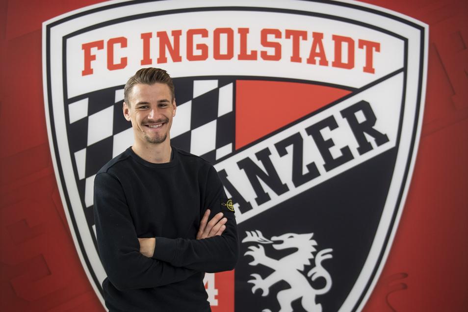 Der Dresdner Stefan Kutschke bestreitet seine dritte Saison mit dem FC Ingolstadt, für den der Stürmer bisher 110 Pflichtspiele bestritten und 26 Tore erzielt hat.