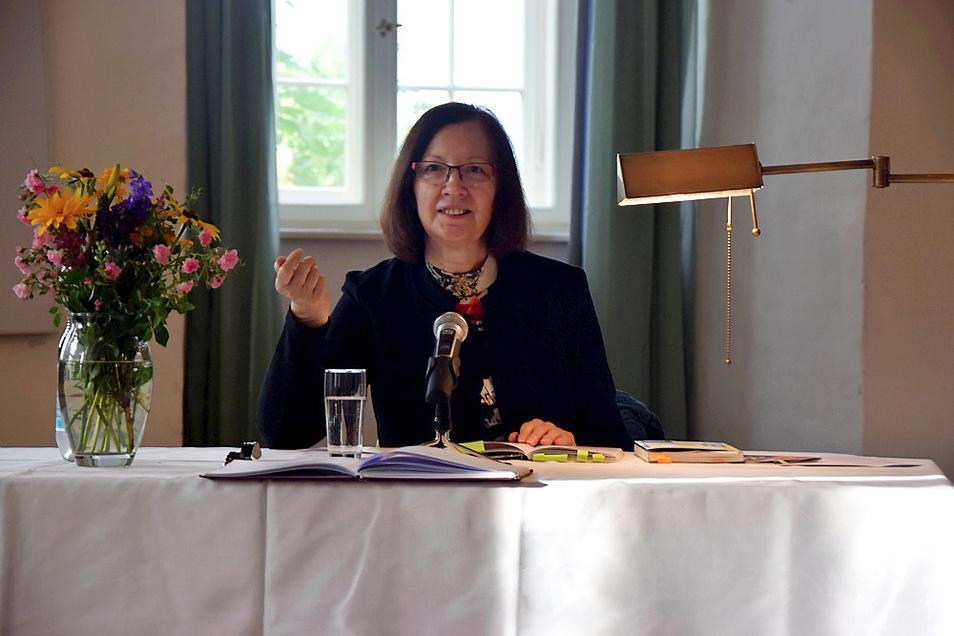 Roza Domascyna bei der Lesung im Schloss.