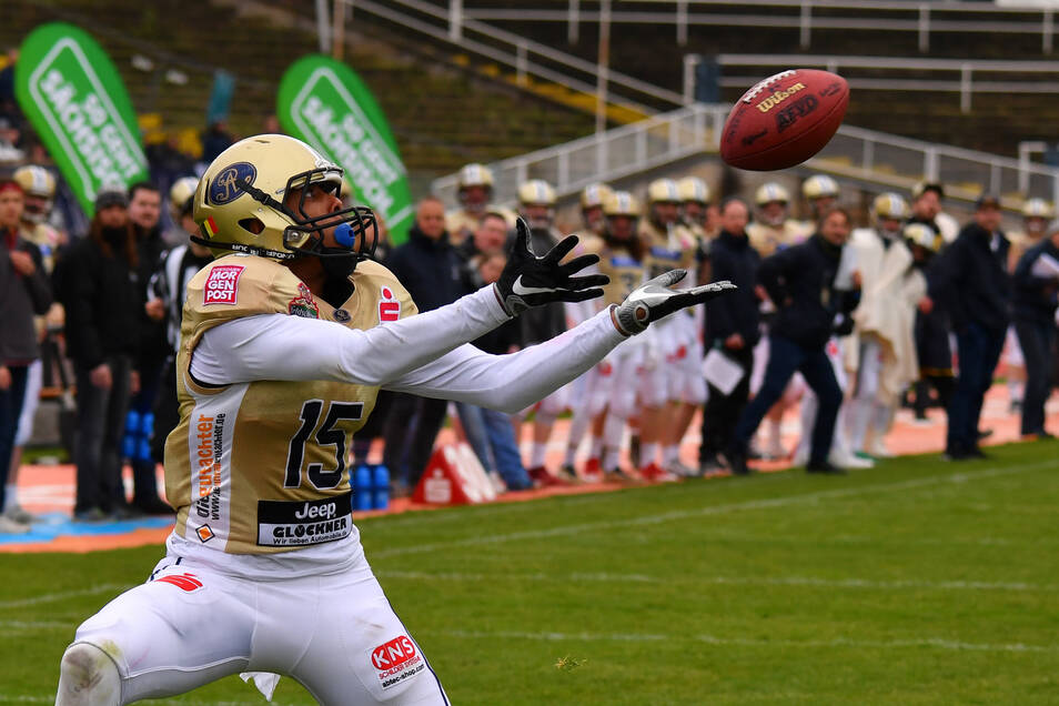 Leistungsträger Martin Emos kann den Dresden Monarchs in dieser Saison der German Football League nicht mehr helfen.