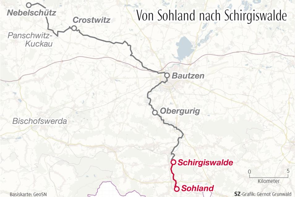 Die erste Etappe ihrer Wahlwanderung führte die SZ-Reporterinnen von Sohland nach Schirgiswalde.