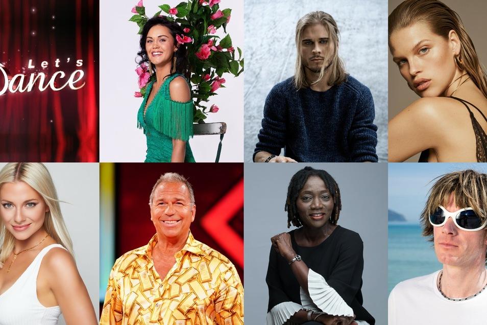 Auch diese Prominenten tanzen mit (v.l.): Vanessa Neigert, Rùrik Gislason, Kim Riekenberg, Valentina Pahde, Kai Ebel, Auma Obama und Mickie Krause