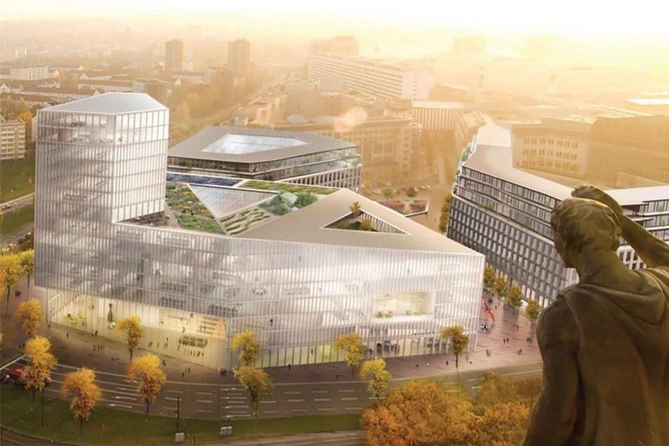 Nicht unumstritten: Der Entwurf für das neue Verwaltungszentrum am Ferdinandplatz-