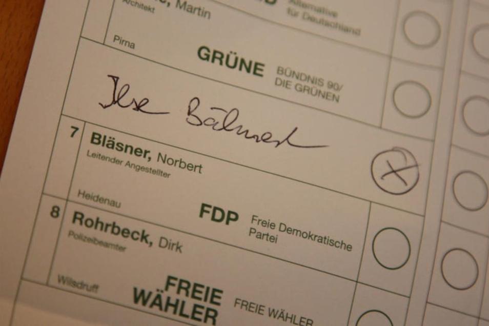 Mehrere Pirnaer Wähler wollen Ise Bähnert im Landtag sehen. Die gibt es aber nur auf der Bühne und im Fernsehen.