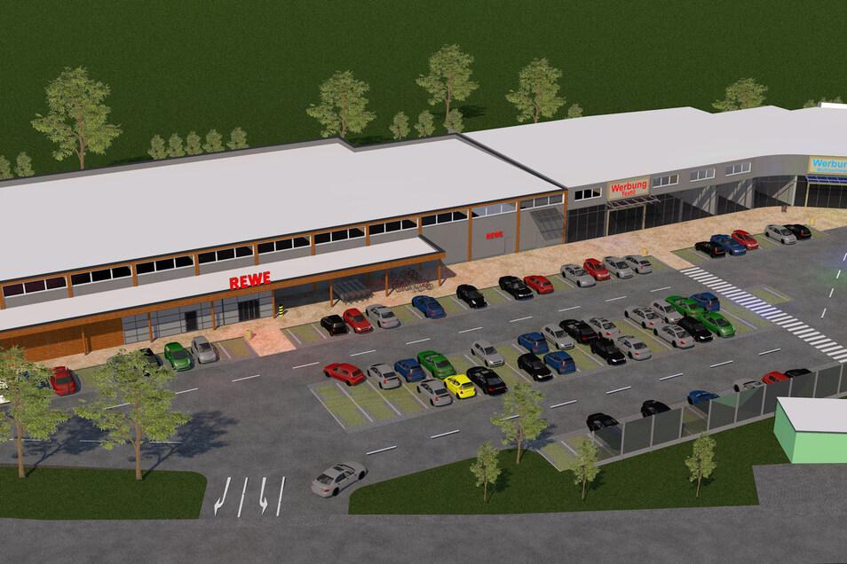 So soll der neue Rewe-Markt in Neustadt aussehen.