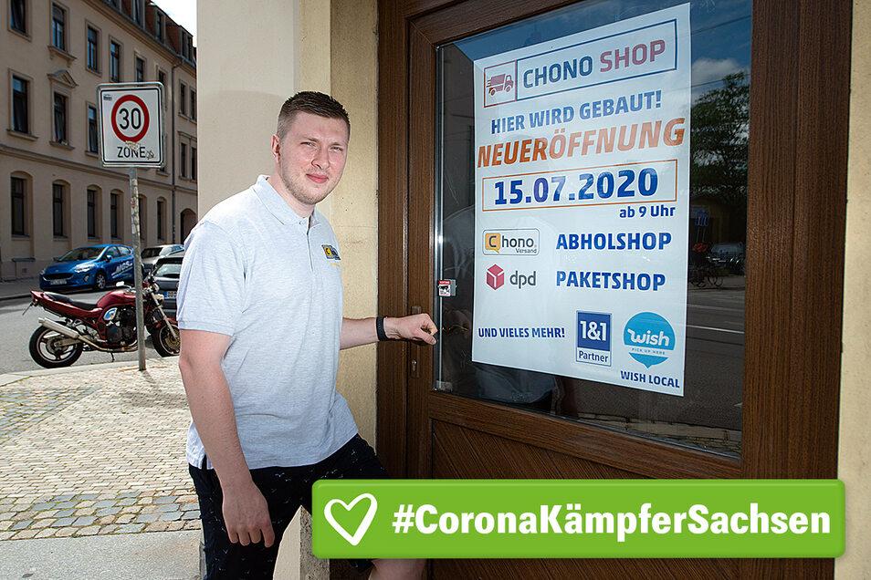 In wenigen Tagen wird Jonny Rönnefahrt seinen Paketshop an der Leipziger Straße eröffnen.