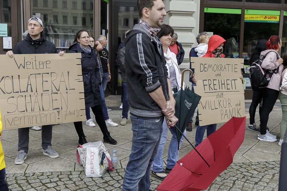 Protest auf dem Postplatz gegen die Corona-Beschränkungen