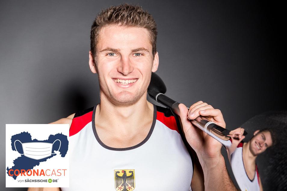 Der Dresdner Kanute Tom Liebscher bereitet sich seit fünf Jahren auf die Olympischen Spiele in Tokio vor. Im CoronaCast erzählt er,