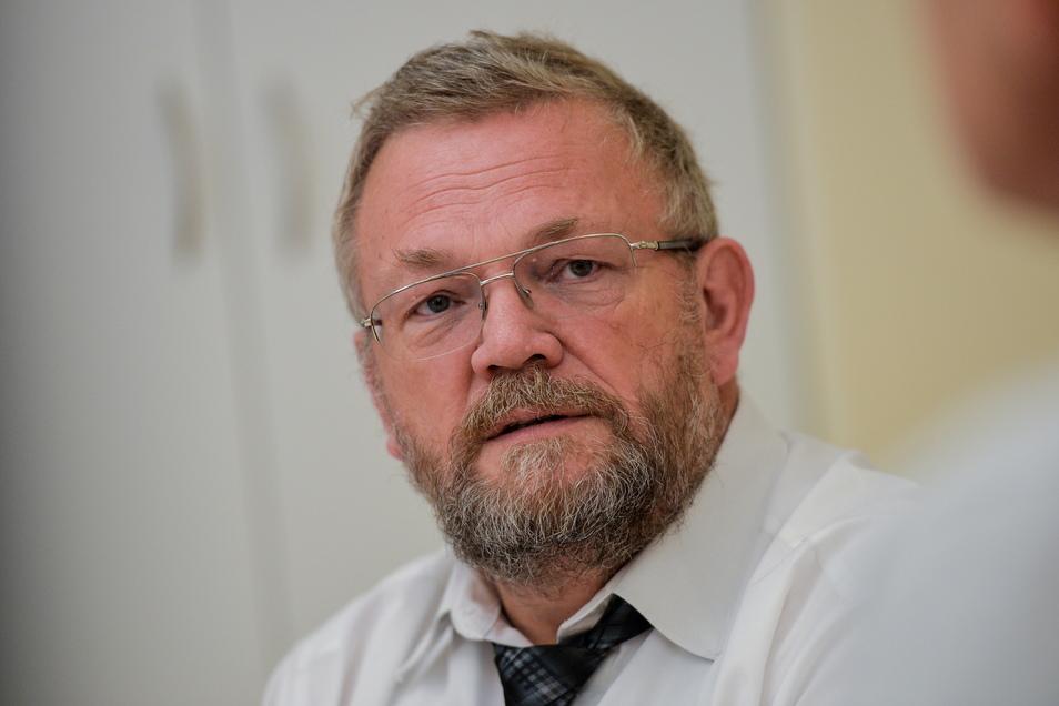 Reiner Rogowski ist Geschäftsführer der Oberlausitz-Kliniken in Bautzen und Bischofswerda, die in den vergangenen zwölf Monaten mehr als 1.000 Corona-Kranke behandelten.
