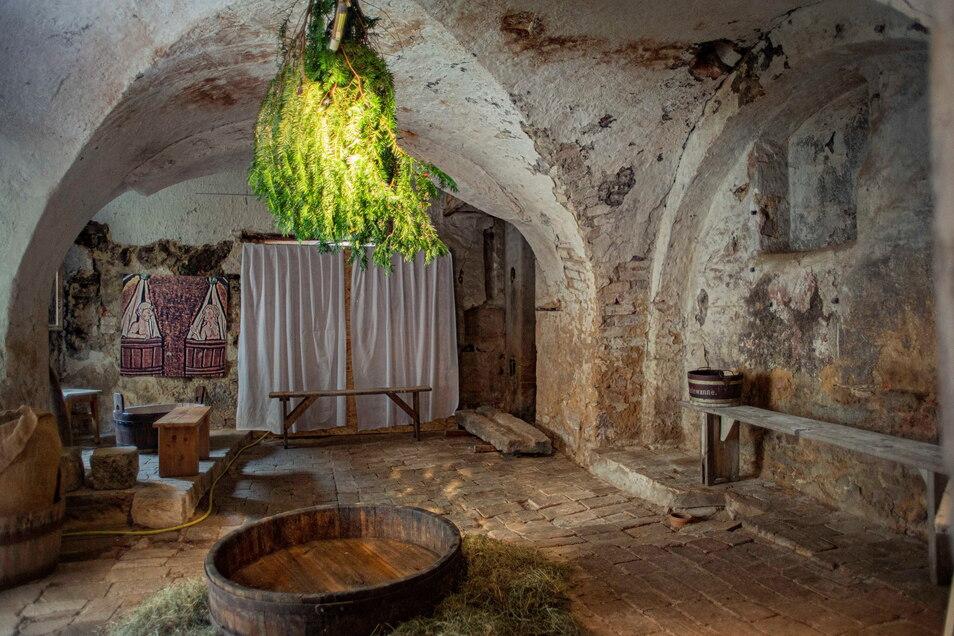 Installation in der alten Baderei. Foto: Rene Plaul