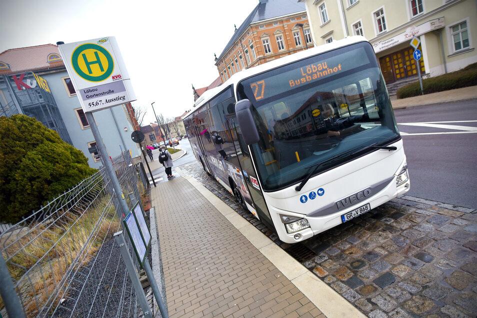 Die Bushaltestelle Gartenstraße ist nach Meinung der Schulen und der KVG gefährlich für Schüler.