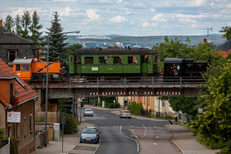 Die Windbergbahn im regulären Fahrbetrieb.