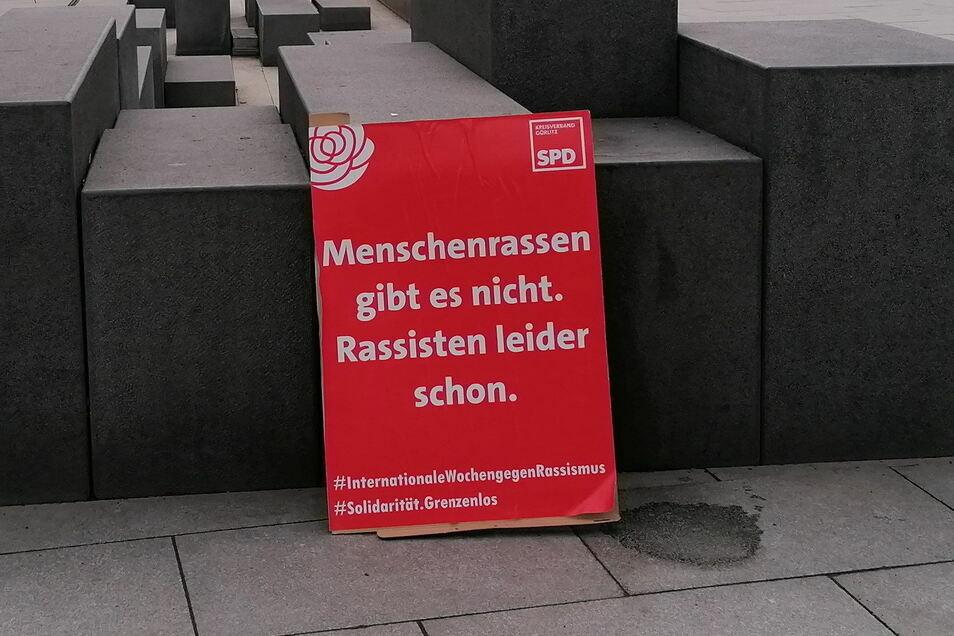 Mit Plakaten wie diesem engagiert sich die SPD im Landkreis Görlitz gegen Rassismus.