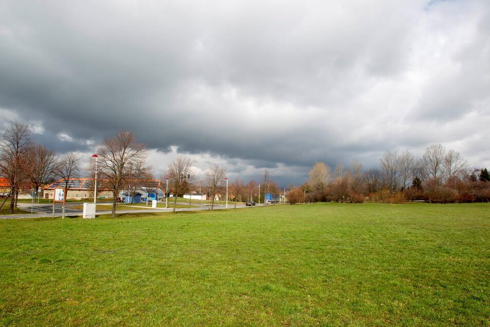 Ein Einkaufsmarkt soll in Mohorn bei Wilsdruff das beleben. Entstehen soll dieser auf dieser freien Fläche im Gewerbegebiet Mohorner Höhe.