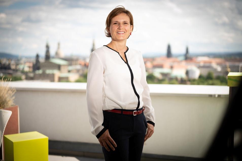 Katja Kipping (Linke) will als Bundestagsabgeordnete noch mehr in Dresden unterwegs sein.