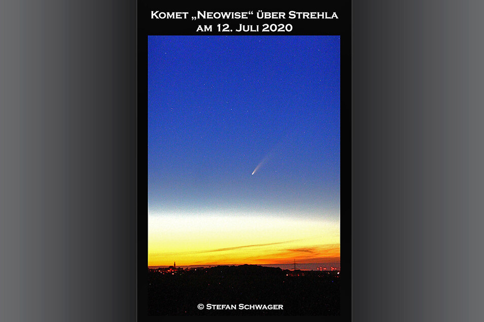"""Blick vom Reußner Berg nach Strehla: Stefan Schwager rät bei der """"Kometenjagd"""" zu einem Aussichtspunkt mit Horizontblick."""