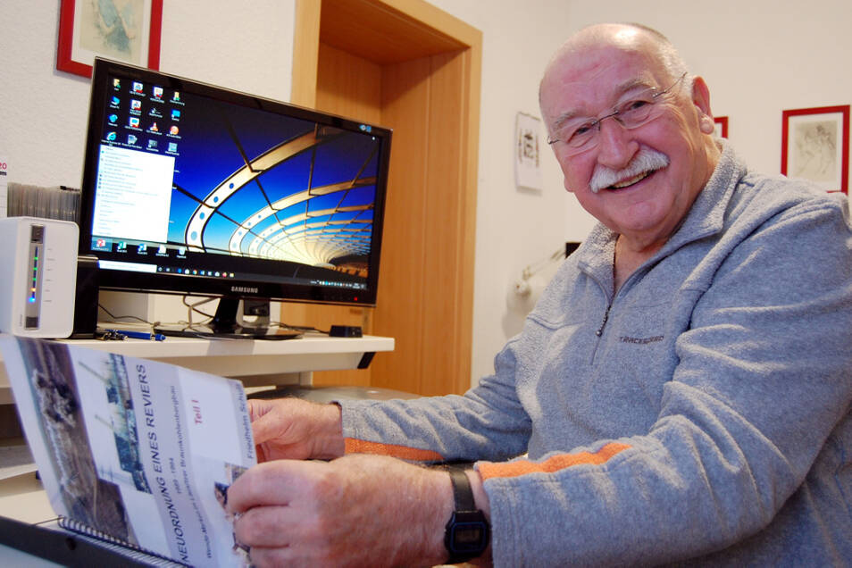 Der heute 85-jährige Friedhelm Schulz hat sich ganz intensiv mit der Geschichte des Lausitzer Braunkohlebergbaus beschäftigt. Ausgangspunkt war die Arbeit an einer Chronik über die Umbruchjahre 1989 bis 1994.