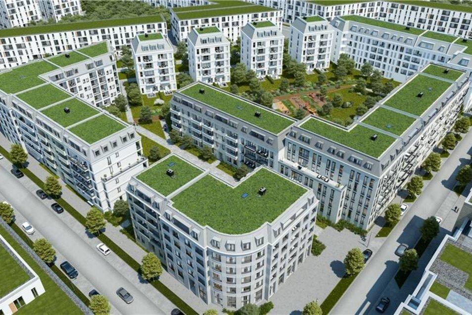 Das Karree an der Ecke Flößerstraße/An der Elbaue ist eins von drei Baufeldern der Firma Mika Quartier.