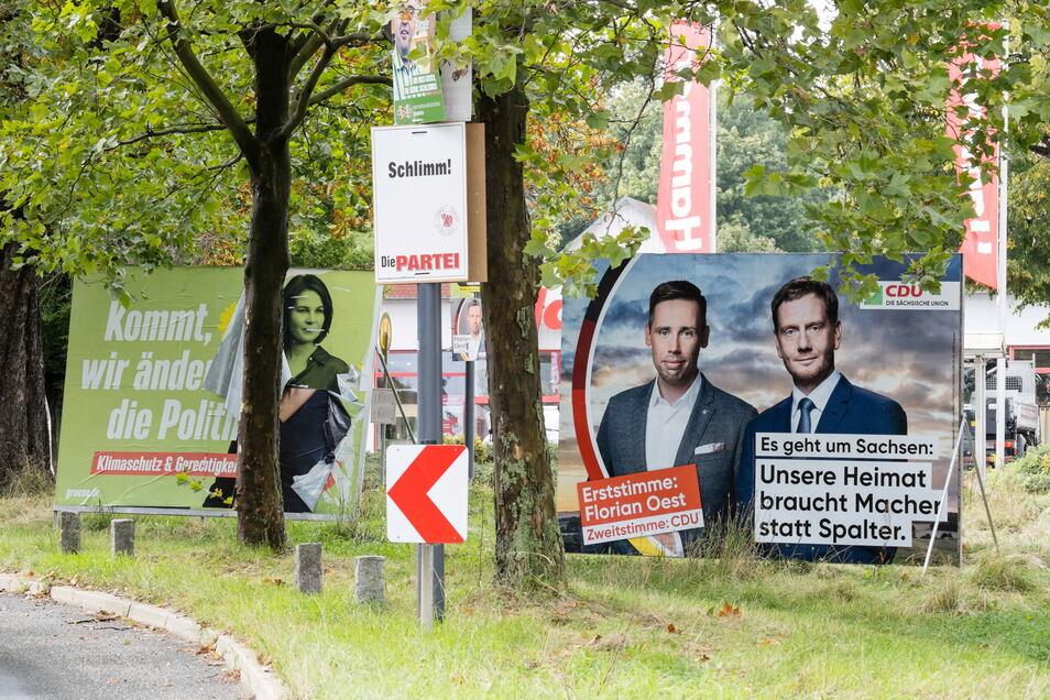 Der CDU-Wahlkampf ist auf den Ministerpräsidenten zugeschnitten: Die Wahlkreiskandidaten werden mit Kretschmer präsentiert – nicht neben Laschet.