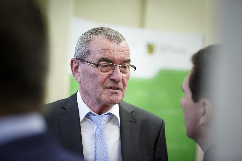 Hans-Peter Mutscher bei seiner Amtseinführung 2018 in Görlitz: Der Leiter des hiesigen Gefängnisses begann seine berufliche Laufbahn 1980 in Bautzen.
