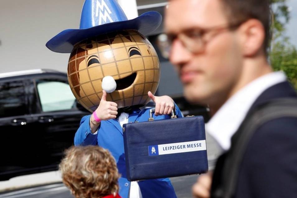 Das Leipziger Messe-Maskottchen war auch zu Gast...