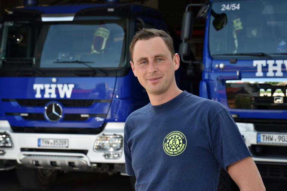 Lars Werthmann hat die Ortsgruppe des Technischen Hilfswerks in Dippoldiswalde mit aufgebaut und leitet sie. Für sein Engagement bekommt er jetzt den höchsten zivilen Orden, den die Bundesrepublik vergibt.