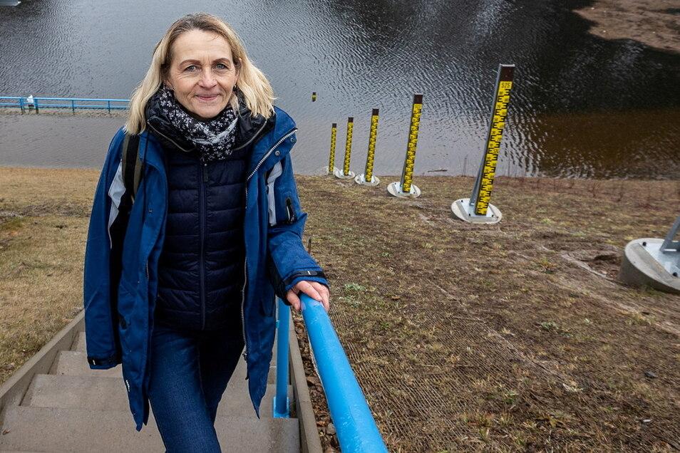 Birgit Lange leitet den Betrieb Oberes Elbtal der Landestalsperrenverwaltung, der für den Hochwasserschutz auch an den Nebenflüssen der Elbe verantwortlich ist.