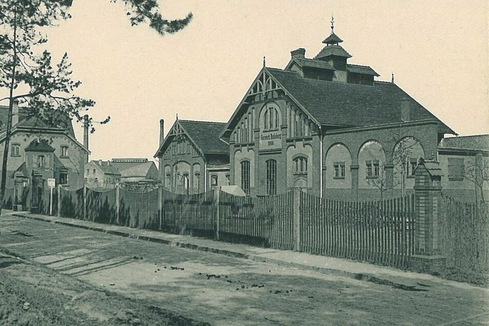 Die historische Ansicht zeigt das frühere Gaswerk sieben Jahre nach seiner Inbetriebnahme 1906.
