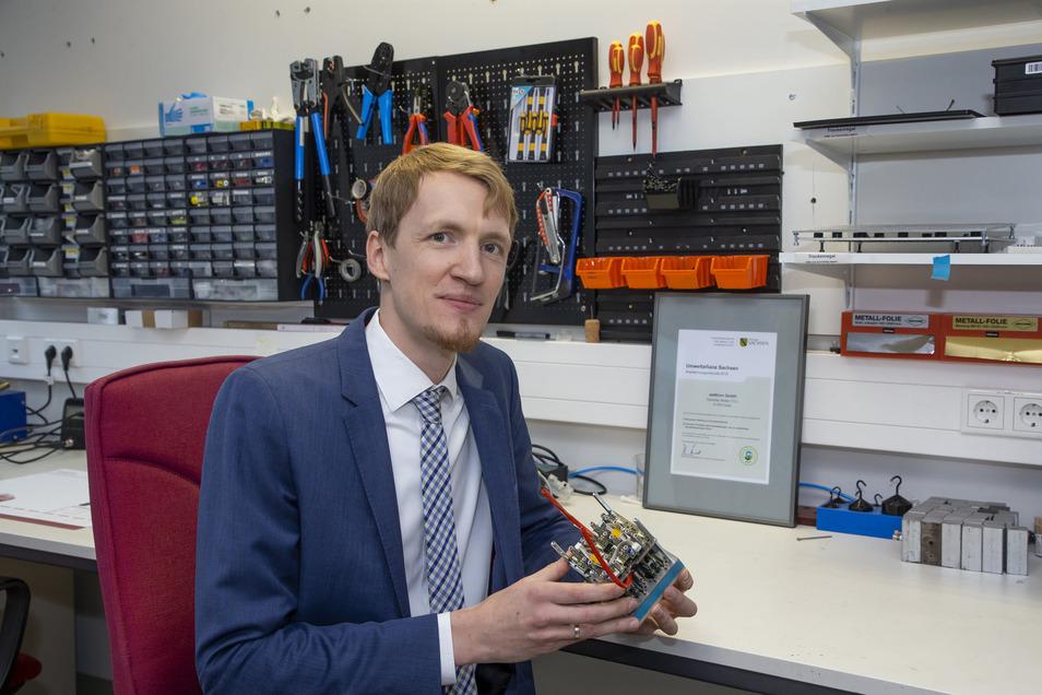 Marcus Stein hat nach seinem Maschinenbaustudium lange an der TU Dresden geforscht. Jetzt exportiert sein Unternehmen Heizsysteme bis nach Chicago.
