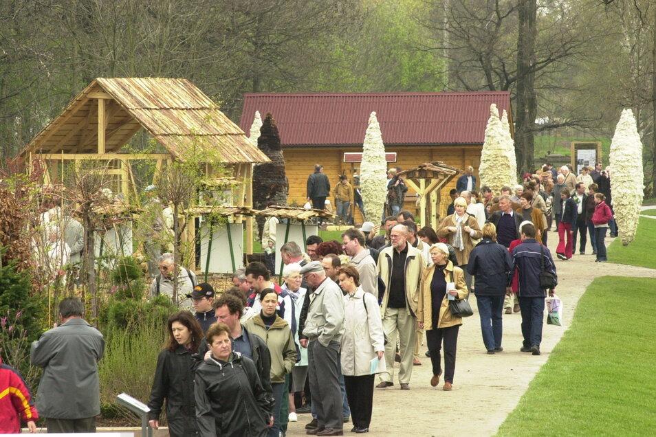 2002 in Großenhain: Fast 600.000 Besucher kamen auf das liebevoll gestaltete 17 Hektar große Areal in der Röderstadt.