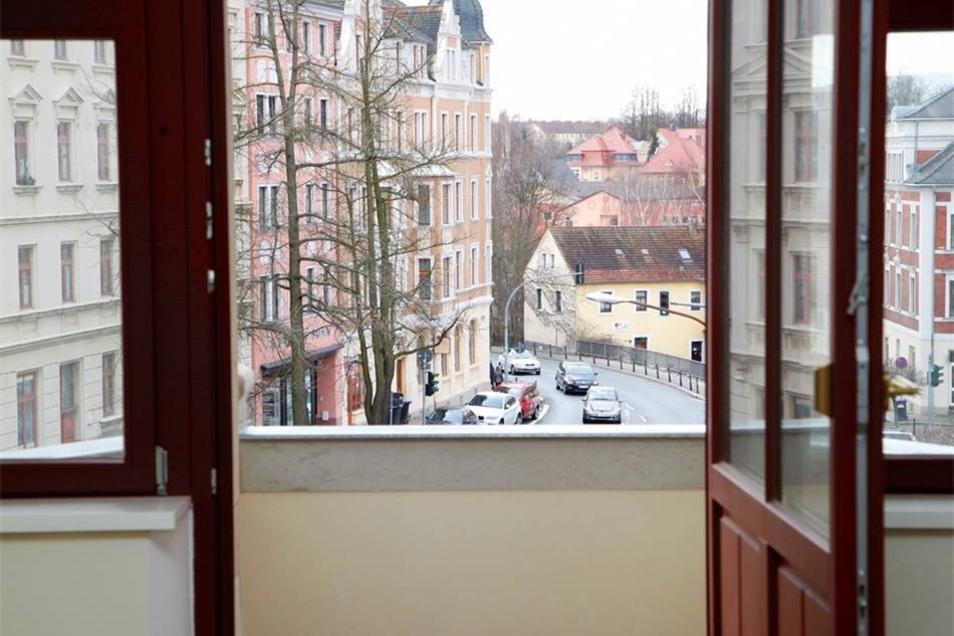 Und viel Ausblick ins Löbauer Zentrum.