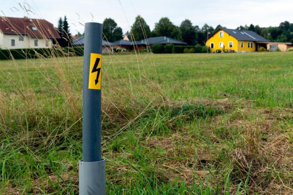 """26 Eigenheime und ein Mehrfamilienhaus wurden seit den 90er Jahren im Wohngebiet """"Valtenbergblick"""" errichtet. Ab 2020 könnten noch ein paar Häuser hinzukommen."""