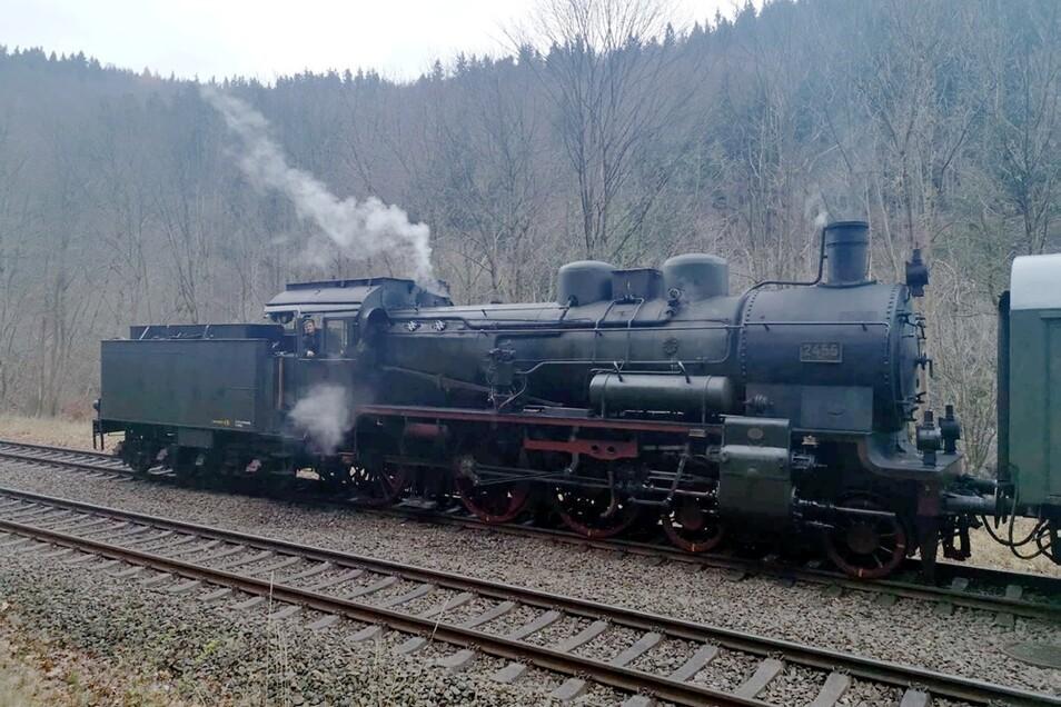 Diese 38er Dampflok fährt demnächst in der Lausitz.