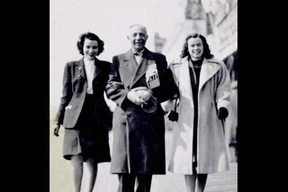 Noch zusammen; Ursula, Walter und Gerti Totschek in Berlin.