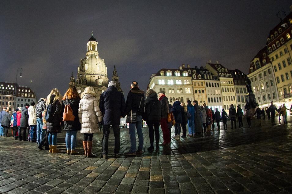 Am 13. Februar soll das Dresdner Zentrum wieder von einer Menschenkette umspannt werden.